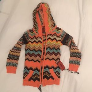 NWT Missoni for Target zip up Tunic Hoodie XS